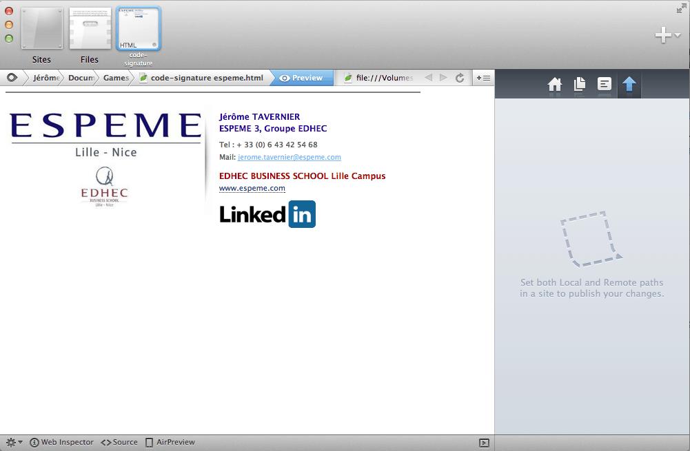 Très Apple - Créer une signature HTML pour mail Mac - MLID PU97