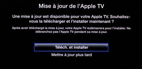 Mise à jour Apple TV