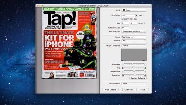 Scanner avec votre Mac