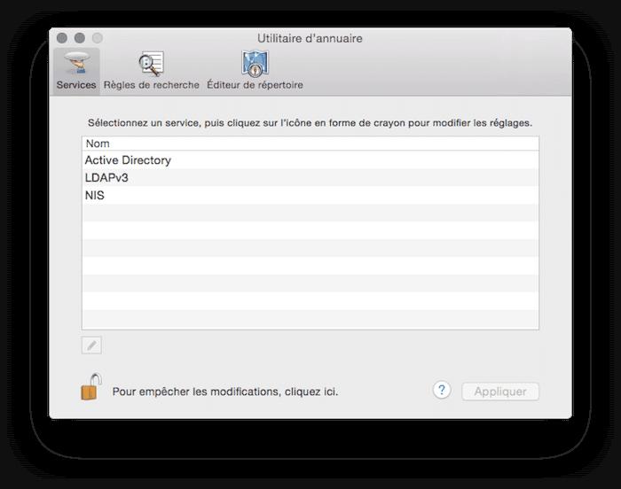Changer le mot de passe root de votre mac for Fenetre utilitaire mac