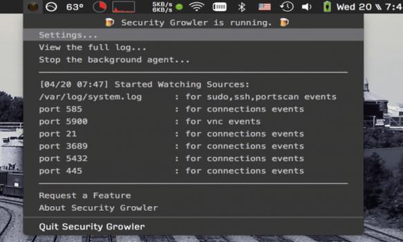 menu-Security Growler