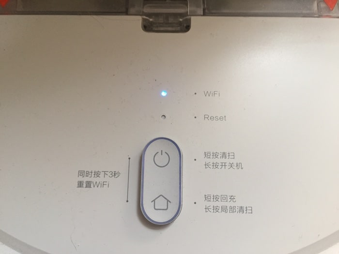 Test Xiaomi Mi Robot Vacuum -voyants
