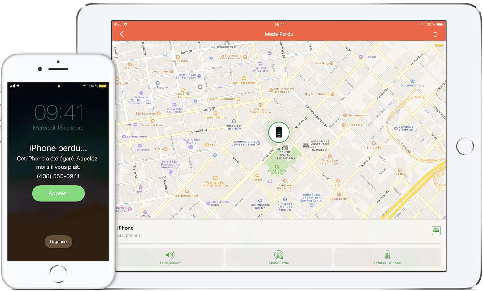 localiser iphone volé sans application